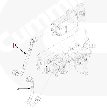 Трубка топливная Cummins Камминз ISX15 3683526